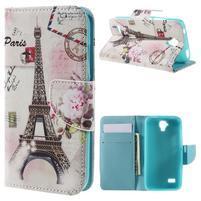 Emotive PU kožené puzdro na Huawei Y5 - Eiffelova veža