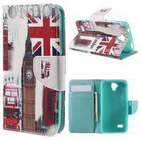 Emotive PU kožené puzdro na Huawei Y5 - United Kingdom