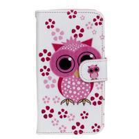 Štýlové peňaženkové puzdro na Huawei Y5 a Y560 - sovička