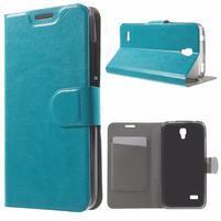Horse peňaženkové puzdro na mobil Huawei Y5 a Y560 - modré