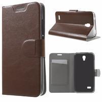 Horse peňaženkové puzdro na mobil Huawei Y5 a Y560 - hnedé