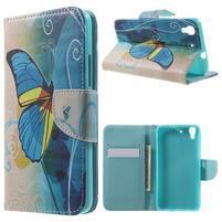 Emotive puzdro na mobil Huawei Y6 - modrý motýľ