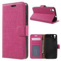 Clothy PU kožené puzdro na Huawei Y6 - rose