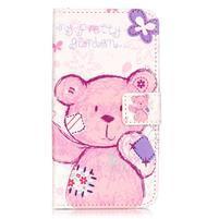 Knižkové puzdro na mobil Huawei Y6 Pro - medvídek