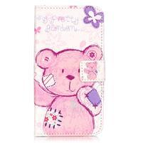 Knížkové pouzdro na mobil Huawei Y6 Pro - medvídek