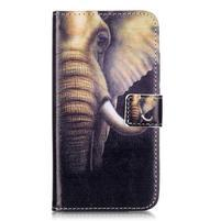 Knižkové puzdro na mobil Huawei Y6 Pro - slon