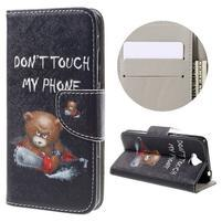 Emotive peňaženkové puzdro na mobil Huawei Y6 Pro - nedotýkať sa