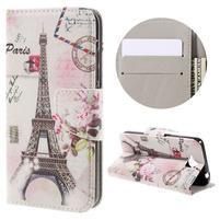 Emotive peňaženkové puzdro na mobil Huawei Y6 Pro - Eiffelova veža