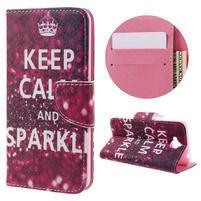 Emotive peňaženkové puzdro na mobil Huawei Y6 Pro - Keep Calm