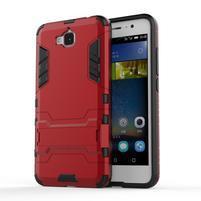 Outdoor odolný obal na mobil Huawei Y6 Pro - červený