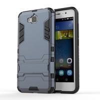 Outdoor odolný obal na mobil Huawei Y6 Pro - šedomodrý