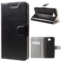Horse PU kožené peňažekové puzdro na Huawei Y6 Pro - čierne