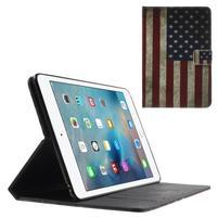 Štýlové puzdro pre iPad mini 4 - US vlajka