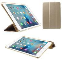 Trifold trojpolohové pouzdro na tablet iPad mini 4 - zlaté