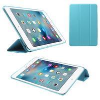 Trifold trojpolohový puzdro pre tablet iPad mini 4 - modré