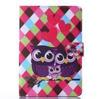 Knížkové puzdro pre tablet iPad mini 4 - zamilované sovičky