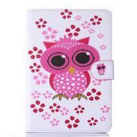 Knížkové puzdro pre tablet iPad mini 4 - sova