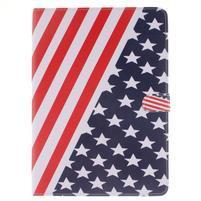 Knížkové pouzdro na tablet iPad Pro 9.7 - US vlajka