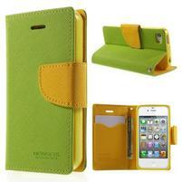 Fancys PU kožené puzdro pre iPhone 4 - zelené