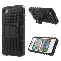 Outdoor odolný obal na mobil iPhone 4 - černý