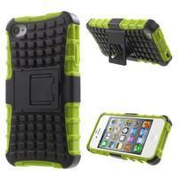 Outdoor odolný obal na mobil iPhone 4 - zelený