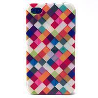 Emotive gélový obal pre mobil iPhone 4 - hexagony