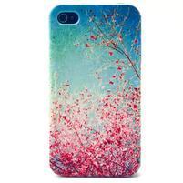 Emotive gélový obal pre mobil iPhone 4 - kvetoucí vetvičky