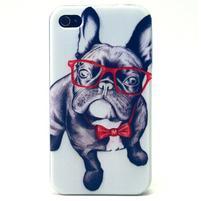Emotive gélový obal pre mobil iPhone 4 - cool pes