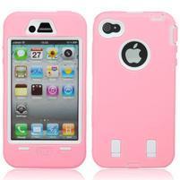 Armor vysoce odolný obal pre iPhone 4 - ružový