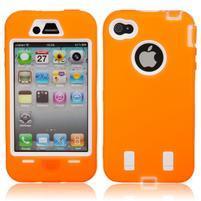 Armor vysoce odolný obal na iPhone 4 - oranžový