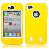 Armor vysoce odolný obal na iPhone 4 - žlutý