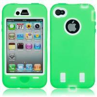 Armor vysoce odolný obal pre iPhone 4 - zelený