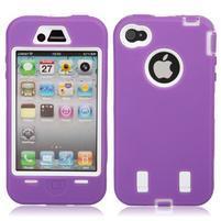 Armor vysoce odolný obal pre iPhone 4 - fialový