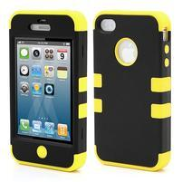 Extreme odolný kryt 3v1 na mobil iPhone 4 - žltý