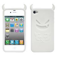 Devil silikonový obal na iPhone 4 - bílý