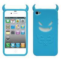 Devil silikónový obal pre iPhone 4 - svetlemodrý