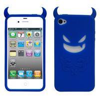 Devil silikónový obal pre iPhone 4 - tmavomodrý