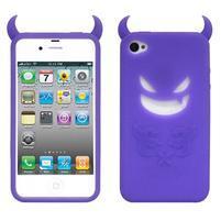 Devil silikonový obal na iPhone 4 - fialový