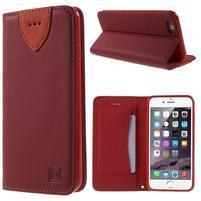 Klopové puzdro na iPhone 6 a iPhone 6s - červené