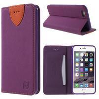 Klopové puzdro pre iPhone 6 a iPhone 6s - fialové