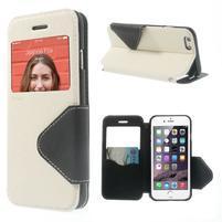 Peňaženkové puzdro s okienkom na iPhone 6 a 6s - biele