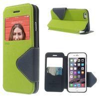 Peňaženkové puzdro s okienkom na iPhone 6 a 6s - zelené