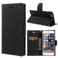 Peňaženkové puzdro pre iPhone 6 Plus a 6s Plus - čierne