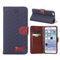 Elegantné peňaženkové púzdro pre iPhone 6 Plus a 6s Plus - modre