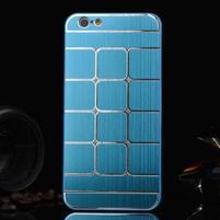 Štýlový kryt s kovovými chrbtom pre iPhone 6 Plus a 6s Plus -  modrý