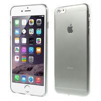 Ultra slim lesklý gélový obal pre iPhone 6 Plus a 6s Plus - sivý