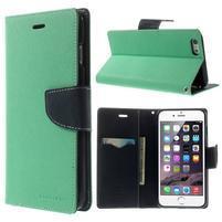 Peňaženkové puzdro pre iPhone 6 Plus a 6s Plus - azurové
