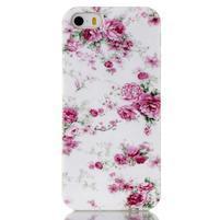 Gelový obal na mobil iPhone SE / 5s / 5 - květiny