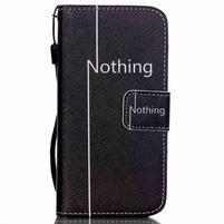 Peněženkové pouzdro na mobil iPhone SE / 5s / 5 - nothing