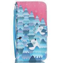 Peňaženkové puzdro pre mobil iPhone SE / 5s / 5 - snežný muž